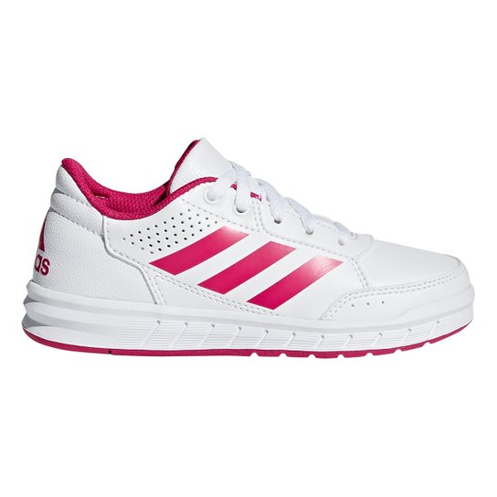 35d32bfdc02 Tênis Infantil Adidas Altasport K - Branco e Pink - Compre Agora ...