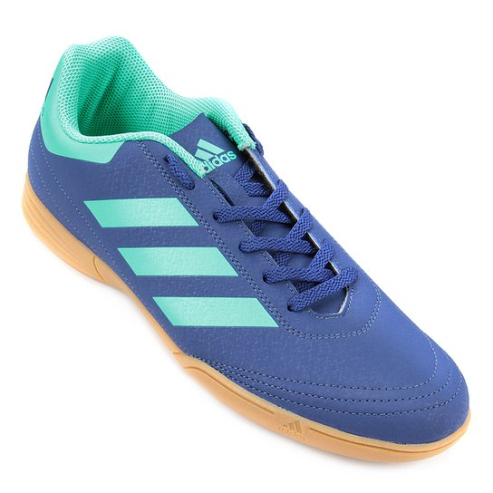 new products ac6d1 b1a1c Chuteira Futsal Adidas Goletto VI - Azul+Verde