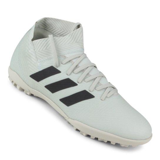 3025582b09c57 Chuteira Society Adidas Nemeziz Tango 18 3 TF - Cinza e Preto ...