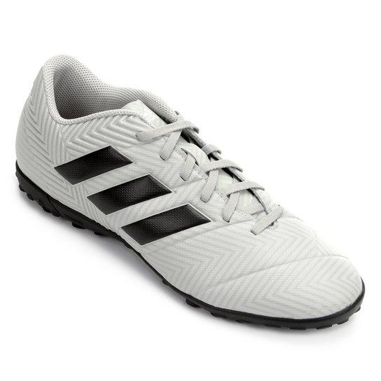 e0a1ee2f6c Chuteira Society Adidas Nemeziz Tango 18 4 TF - Cinza e Preto
