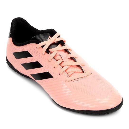 daa3ec8212016 Chuteira Futsal Adidas Artilheira III IN - Salmão e Preto - Compre ...