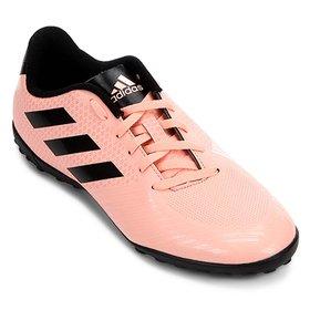 a58ac717b01 Chuteira Society Adidas Nemeziz Tango 18 4 TF - Laranja e Preto ...