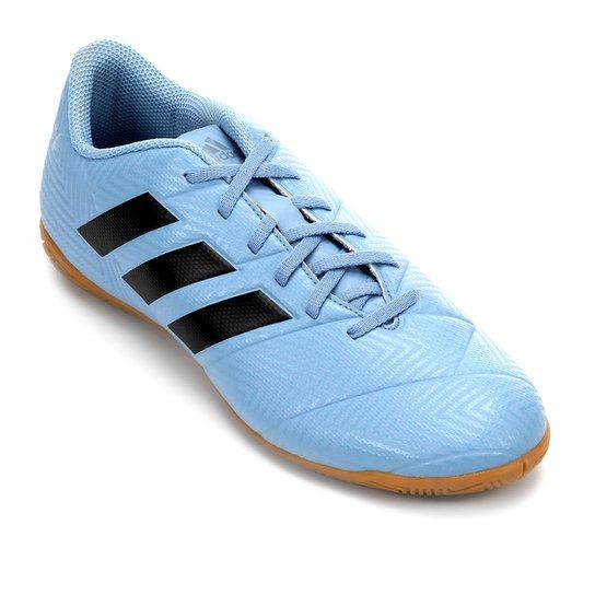f522c1d2cb Chuteira Futsal Adidas Nemeziz Messi Tan 18 4 IN - Azul e Preto ...
