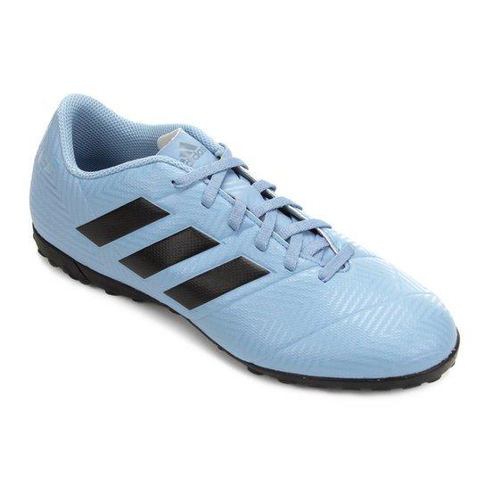 online store a1f7c 5eae4 Chuteira Society Adidas Nemeziz Messi Tan 18 4 TF - Azul+Preto