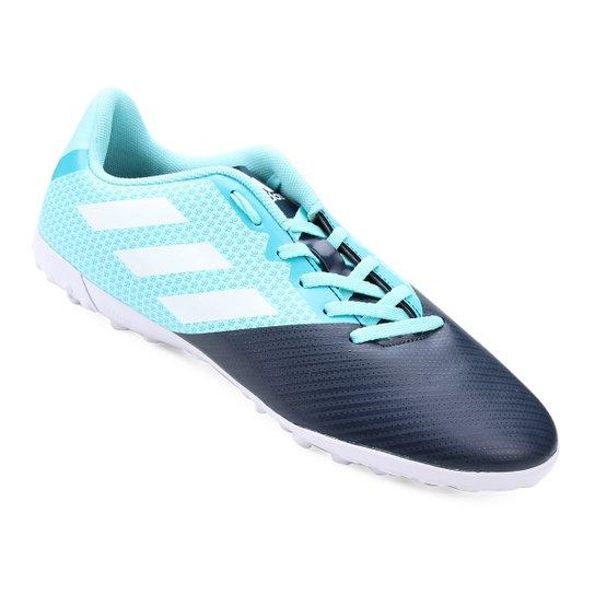 Chuteira Society Adidas Artilheira 17 TF - Azul e Marinho - Compre ... 277a15903ee70