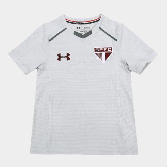 Camisa de Treino São Paulo Infantil 17 18 Under Armour - Cinza ... dbf262019f72b