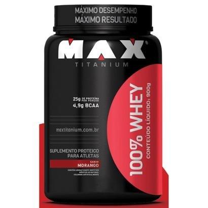 100% Whey 900 g - Max Titanium
