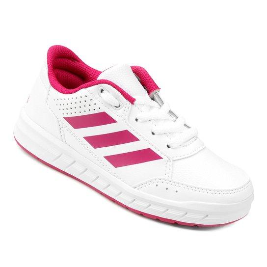 b22ce0e8d3a Tênis Infantil Adidas Altasport K - Branco - Compre Agora