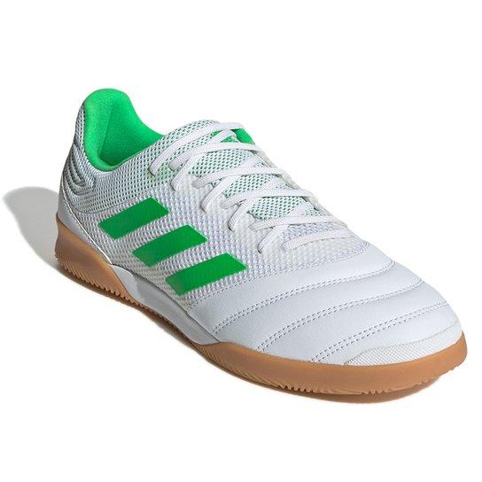 3326bc6de3 Chuteira Futsal Adidas Copa 19 3 IN - Branco e Verde