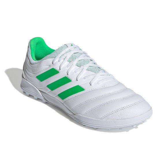 4f3d7e9803 Chuteira Society Adidas Copa 19 3 TF - Branco e Verde