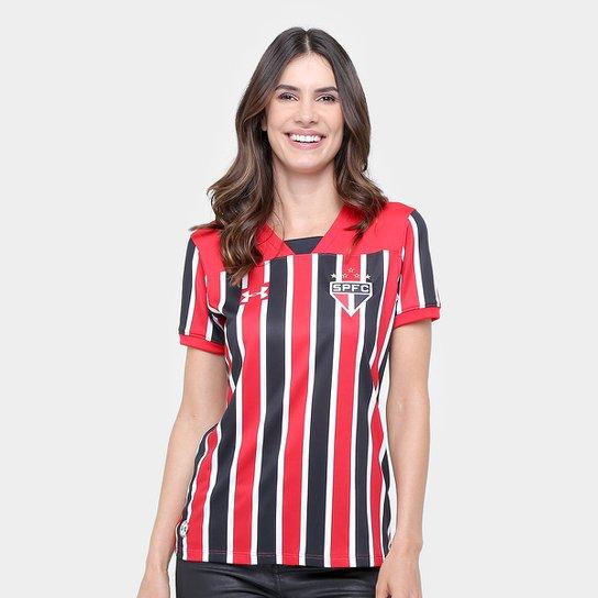 b002450ed Camisa São Paulo II 17/18 s/nº Torcedor Under Armour Feminina - Vermelho