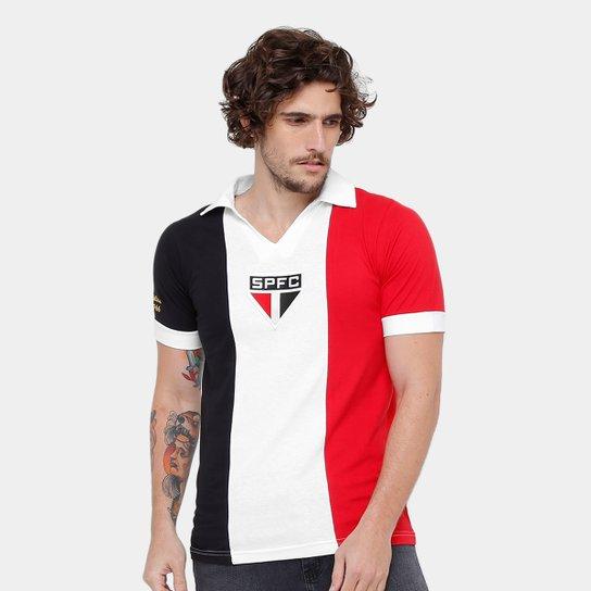 3dcd8be45ae Camisa Retrô São Paulo Réplica 1966 Masculina - Branco e Vermelho ...