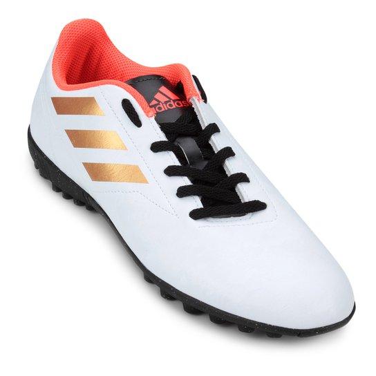 504f3630c6073 Chuteira Society Adidas Conquisto II TF - Branco e Laranja - Compre ...