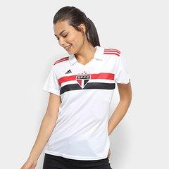 9fbf3f0782 Camisa São Paulo I 2018 s n° Torcedor Adidas Feminina