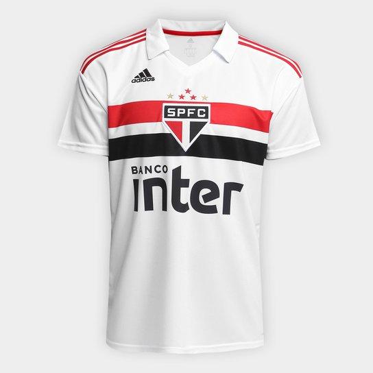 2d4ad28225 Camisa São Paulo I 2018 s/n° Torcedor Adidas Masculina - Branco+Vermelho