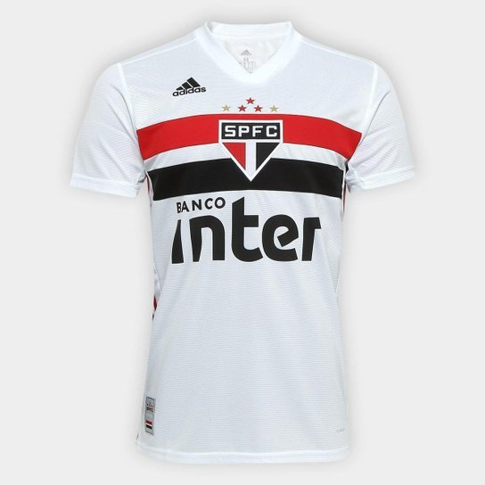 a9c699a2db Camisa São Paulo I 19/20 s/n° Torcedor Adidas Masculina - Branco e ...