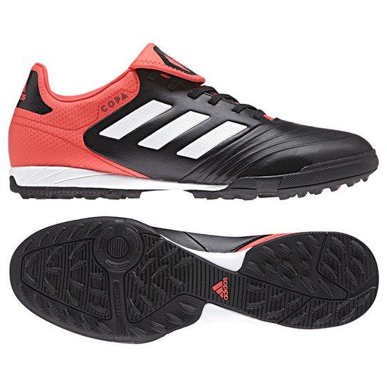 0f88b7afac Chuteira Society Adidas Copa 18.3 TF - Preto e Vermelho