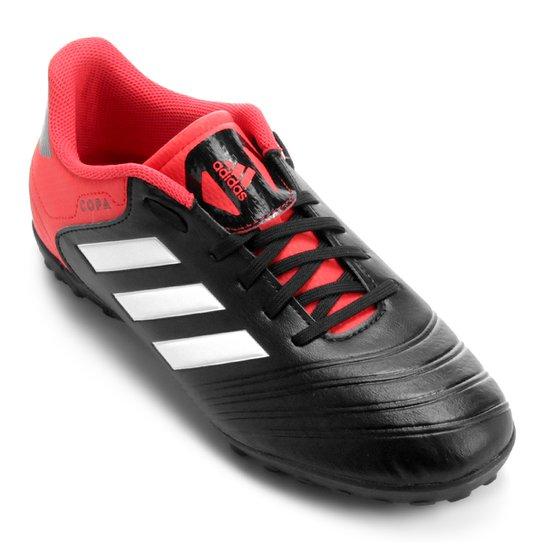 1411024efc Chuteira Society Adidas Copa 18 4 TF - Preto e Vermelho - Compre ...