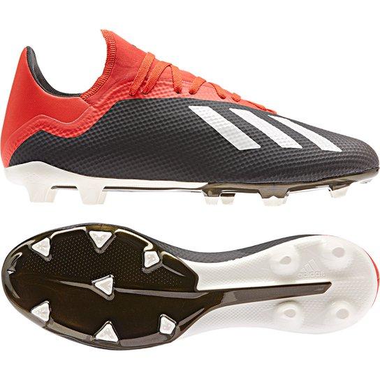 Chuteira Campo Adidas X 18 3 FG - Preto e Branco - Compre Agora ... 5bbced36cebda