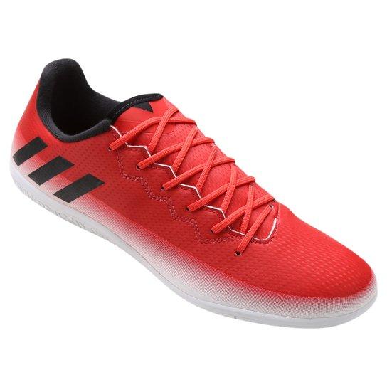 300652ab19 Chuteira Futsal Adidas Messi 16.3 IN - Vermelho+Branco