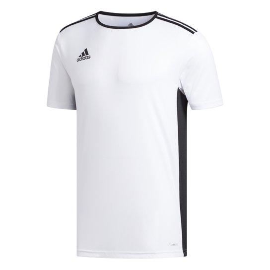 f387350e1 Camiseta Adidas Entrada 18 Masculina - Branco e Preto - Compre Agora ...
