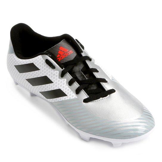 Chuteira Campo Adidas Artilheira 18 FXG - Branco e Preto - Compre ... b0a5df41d2fe2