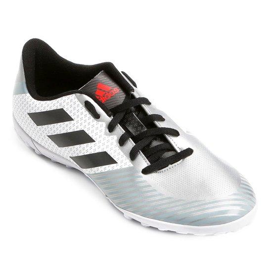 93a840b46c Chuteira Society Adidas Artilheira 18 TF - Branco e Preto - Compre ...