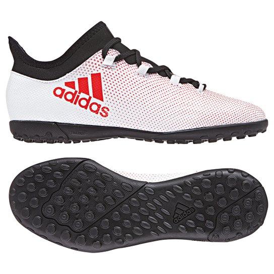 Chuteira Society Infantil Adidas X 17.3 TF - Cinza e Preto - Compre ... c3bdb8970228a