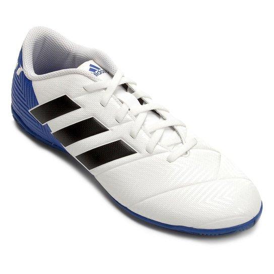 8474fc305de74 Chuteira Futsal Adidas Nemeziz Messi Tan 18 4 IN - Branco e Preto ...