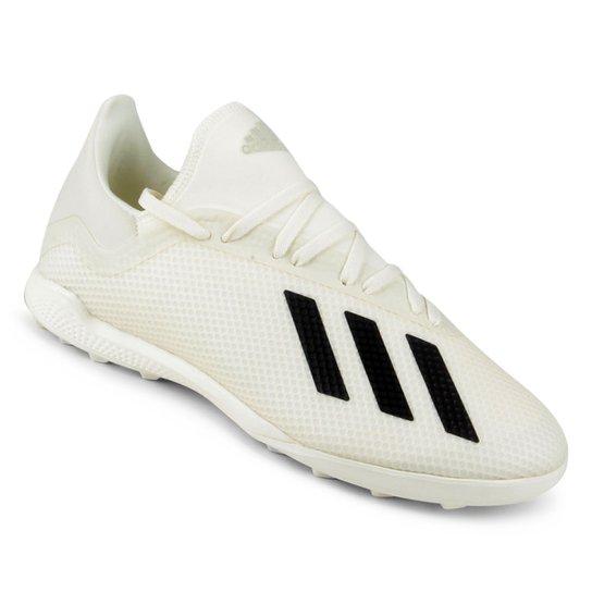 Chuteira Society Adidas X Tango 18 3 TF - Branco e Preto - Compre ... 772afc30790bf