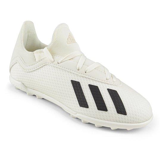 2be678b83e Chuteira Society Infantil Adidas X Tango 18 3 TF - Branco e Preto ...