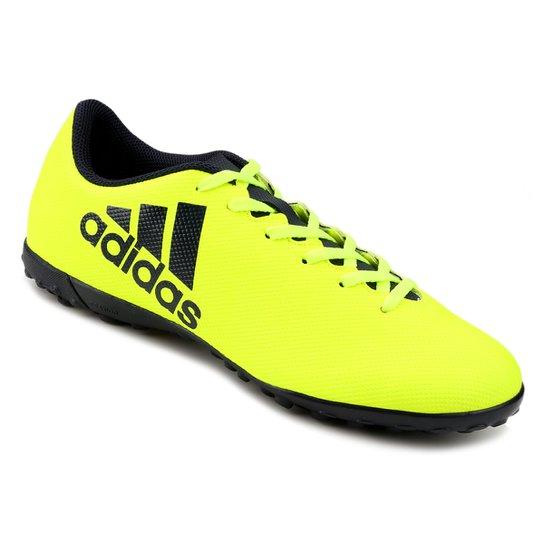 76c9514c63 Chuteira Society Adidas X 17.4 TF - Amarelo Fluorescente ...