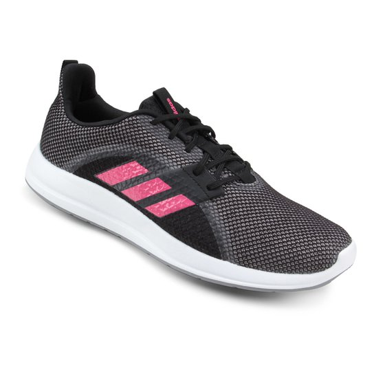 3e0114c1eba Tênis Adidas Element V Feminino - Preto e Rosa - Compre Agora