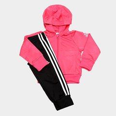 27e3a2f41 Agasalho Infantil Adidas Tracksuit Capuz Feminino