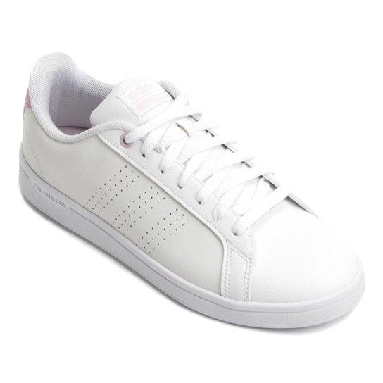 44def6041c5 Tênis Adidas Cf Advantage Clean Feminino - Branco e Rosa - Compre ...