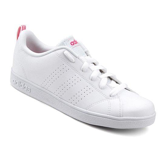 4b6e0e2fed Tênis Adidas Vs Advantage Clean K Infantil - Branco e Vermelho ...