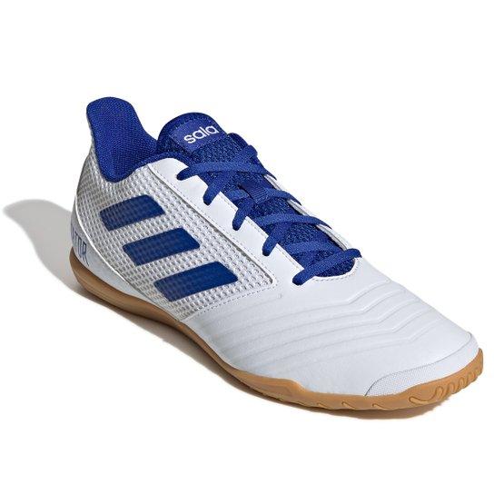 d86adb9865 Chuteira Futsal Adidas Predator 19 4 IN - Branco e Azul