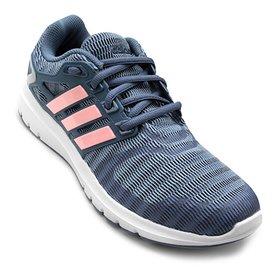 cd77ee759 Tênis Adidas Energy Cloud Feminino - Azul Claro e Branco - Compre ...
