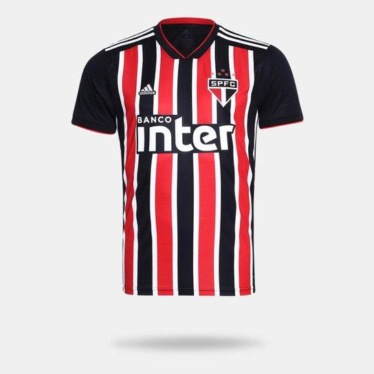 Camisa São Paulo II 2018 s n° Torcedor Adidas Masculina - Vermelho+Branco 06cc7f6616af5