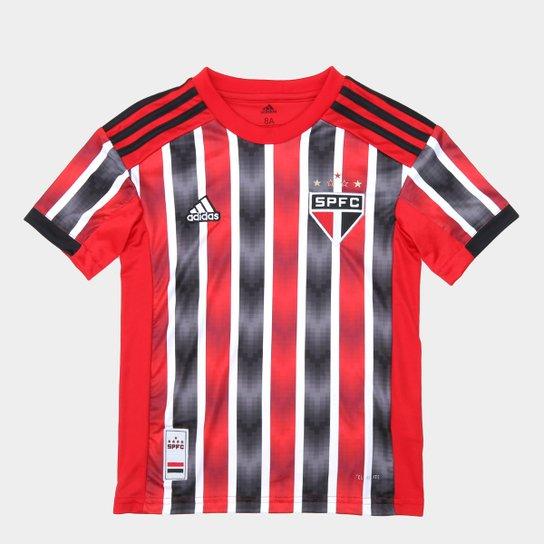 4fa415fbe0f Camisa São Paulo Infantil II 19 20 s nº Torcedor Adidas - Vermelho e ...