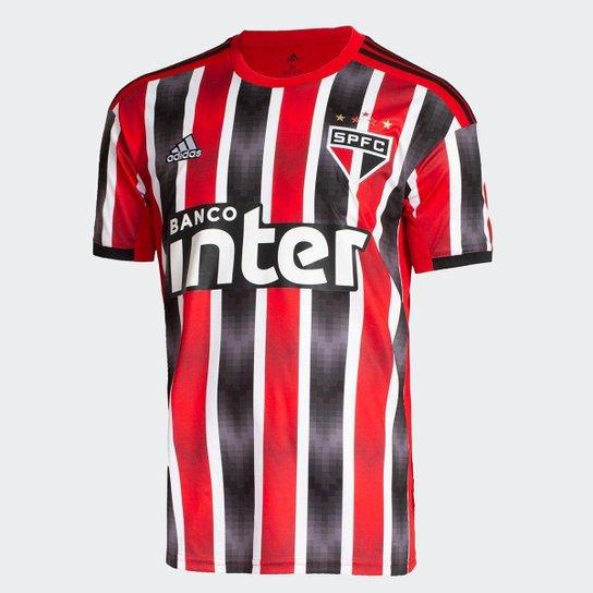 be88c227c2c Camisa São Paulo II 19/20 s/nº Torcedor Adidas Masculina - Vermelho ...