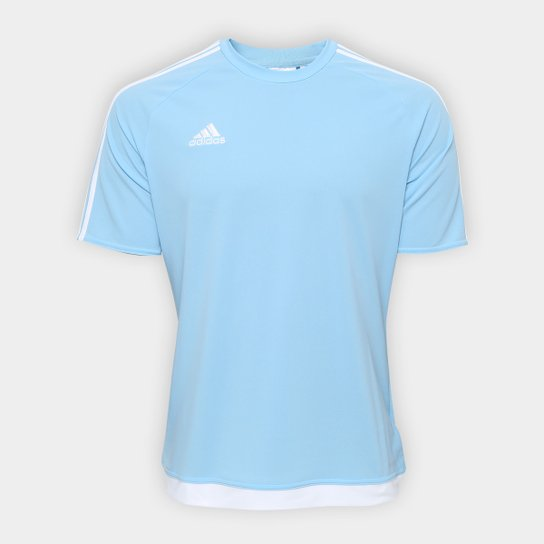 5638eb6f03f Camisa Adidas Estro 15 Masculina - Azul Claro - Compre Agora