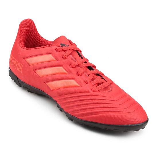 937d14ee0b Chuteira Society Adidas Predator 19 4 TF - Vermelho e Preto