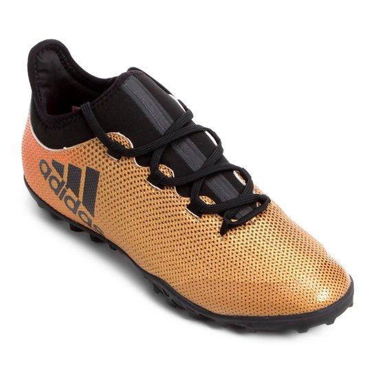 Chuteira Society Adidas X 17 3 TF - Dourado - Compre Agora  48463b656fac4