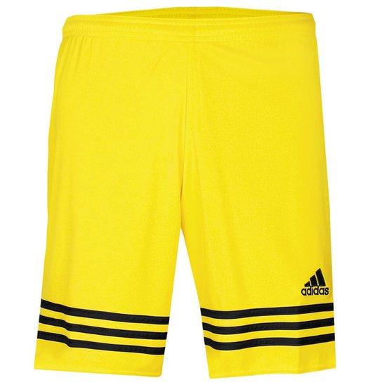 c2865b183e8f6 Calção Adidas Entrada 14 Masculino - Amarelo e Preto - Compre Agora ...
