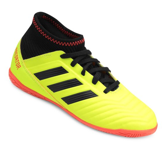998119e591474 Chuteira Futsal Infantil Adidas Predator 18 3 IN - Amarelo e Preto