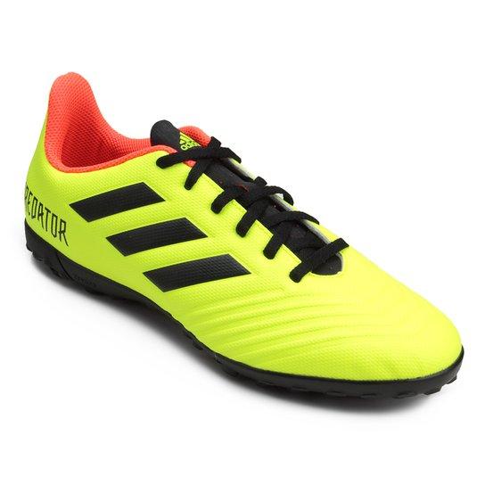 Chuteira Society Adidas Predator Tan 18 4 TF - Amarelo e Preto ... 455a253012d35