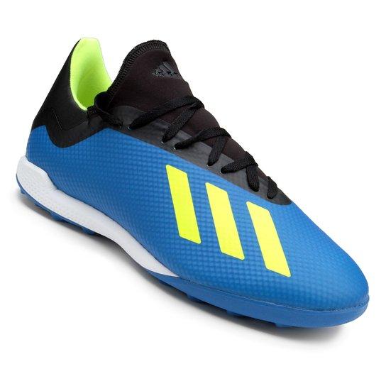 bf0863527c Chuteira Society Adidas X Tango 18 3 TF - Azul+Preto