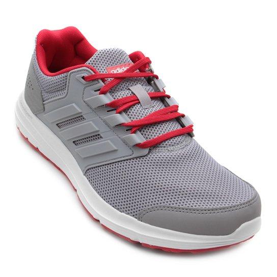 2f5320e35 Tênis Adidas Galaxy 4 Masculino - Cinza e Vermelho - Compre Agora ...