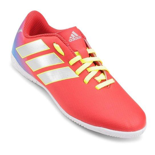 f96df6e1da Chuteira Futsal Infantil Adidas Nemeziz Messi 18 4 IN - Vermelho e ...